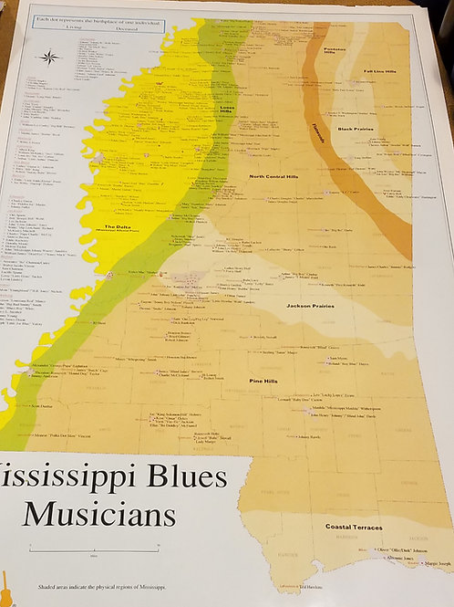 MS blues musician birthplace poster