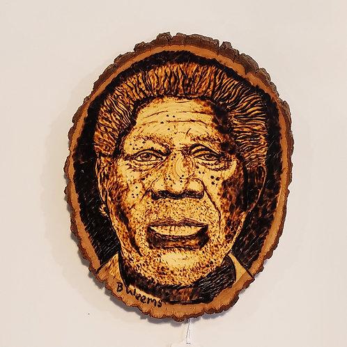 Mississippi's Morgan Freeman wood burning by Bryan Weems