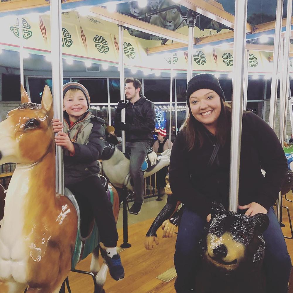 Carousal rides at Henry Vilas Zoo