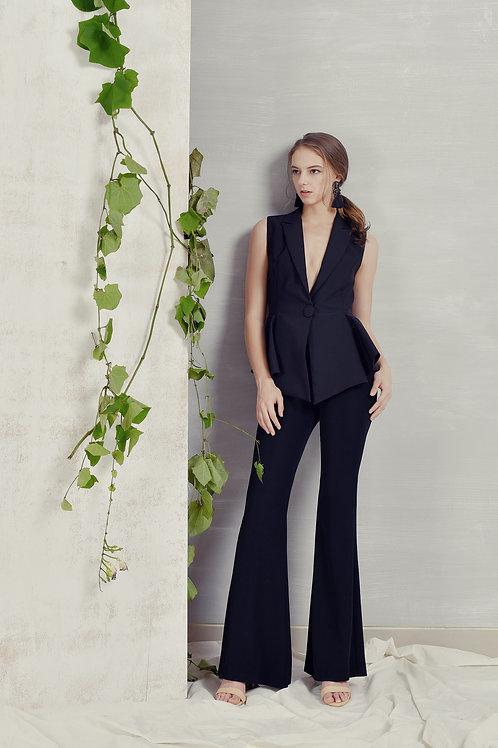 Peplum Vest (Black)