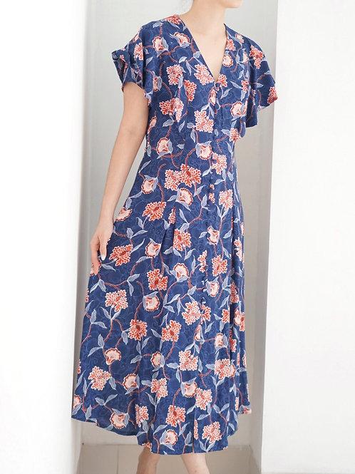 Gina Dress (Blue Floral)