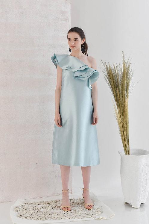 Ruffle One Shouldered Dress