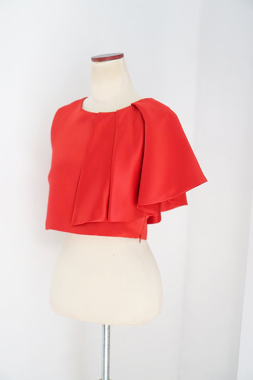 One Sided Ruffle (Red)