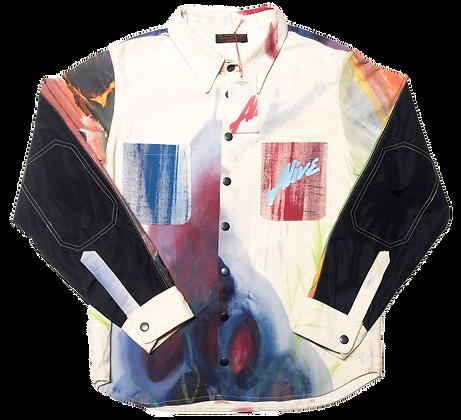 CRUSHED GRAPES Organic Cotton Canvas/Nylon Shirt