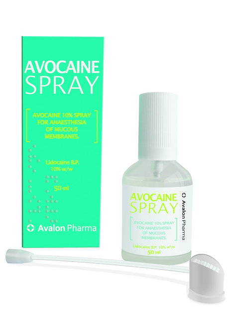 AVOCAINE SPRAY TOPICAL SPRAY 50ML TRANSPARENT GLAS