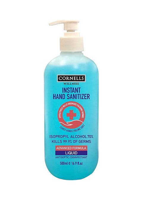 CORNELLS INSTANT SANITIZER GEL PUMP 500ML
