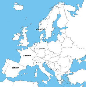 Europe map where you can find us