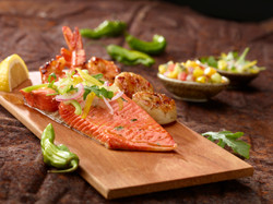 Planked Seafood Trio