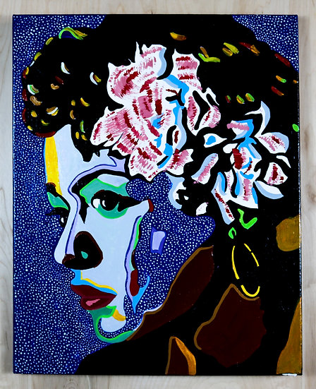 Billie Holiday Acrylic Painting