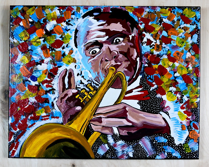 Louis Armstrong Acrylic Painting
