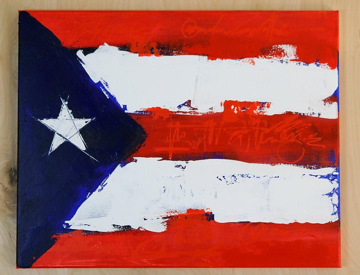 Distressed PR Flag