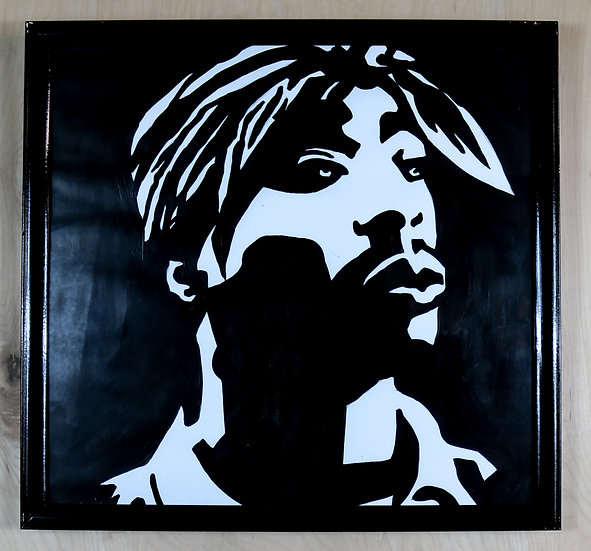 Tupac silhouette painting