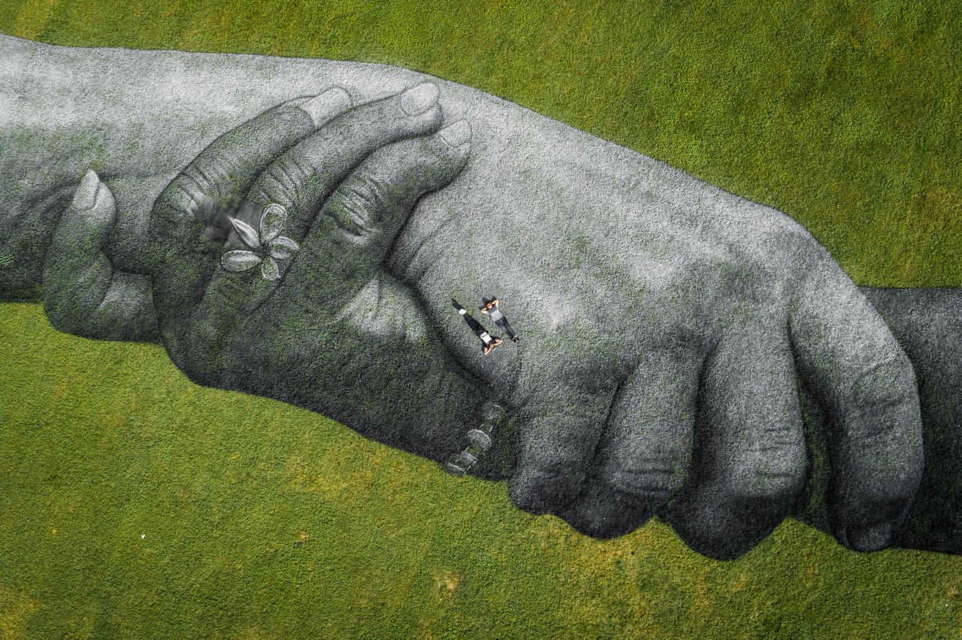 Beyond Walls Turin by Saype