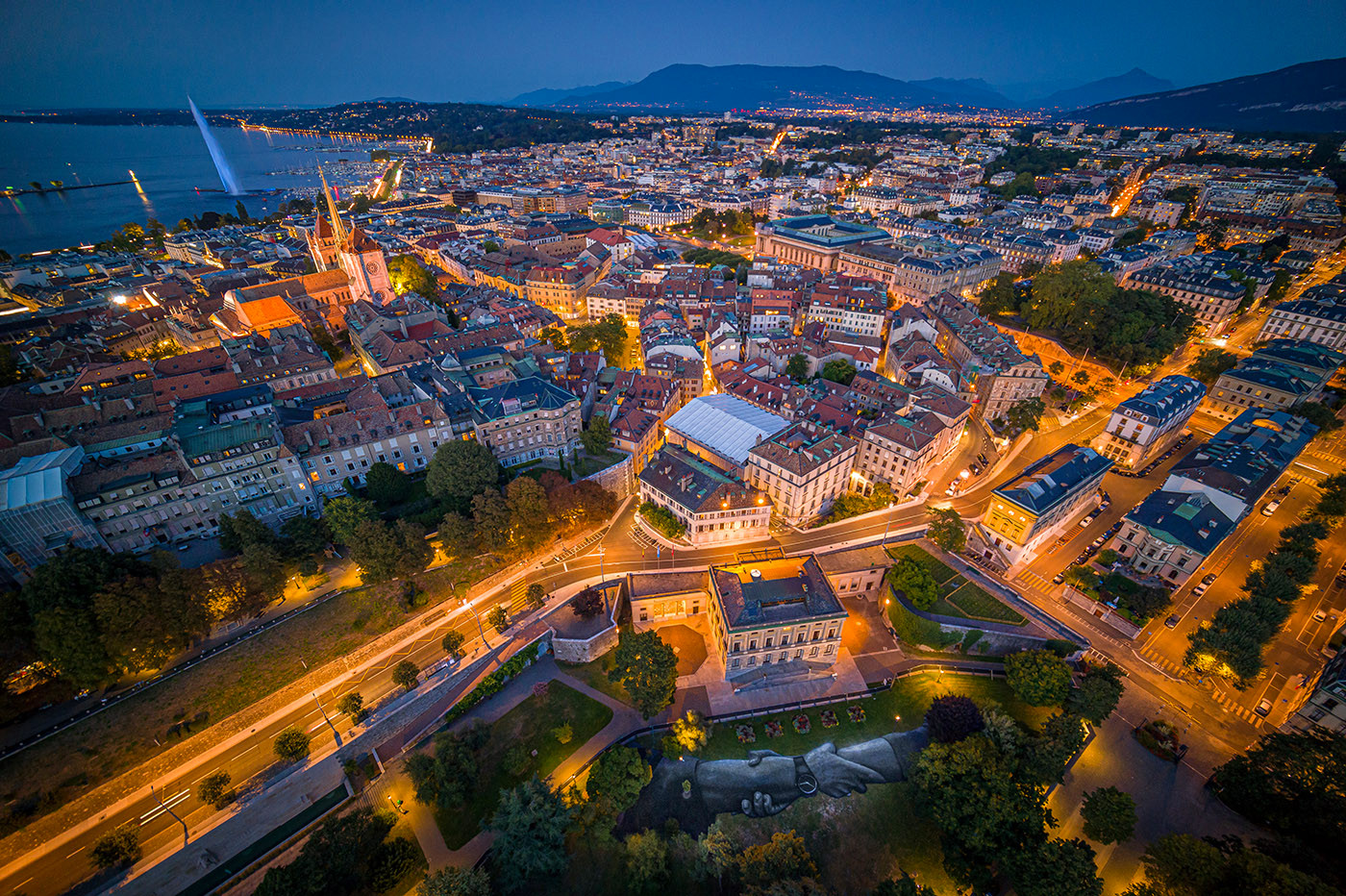 Beyond Walls - Saype - Geneva 2019