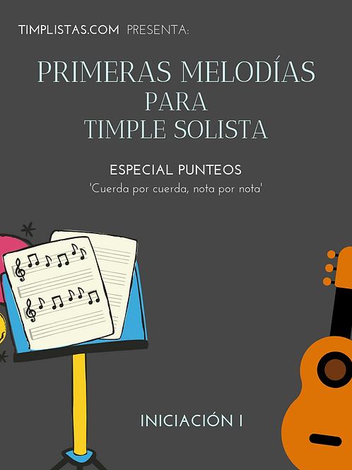 4. Primeras Melodías para Timple Solista. 'Especial Punteos'