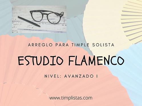 Estudio flamenco para timple