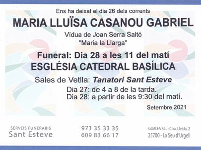 Maria Lluïsa Casanou Gabriel