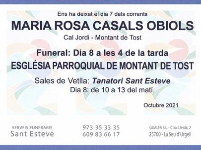Maria Rosa Casals Obiols