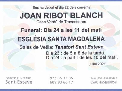 JOAN RIBOT BLANCH