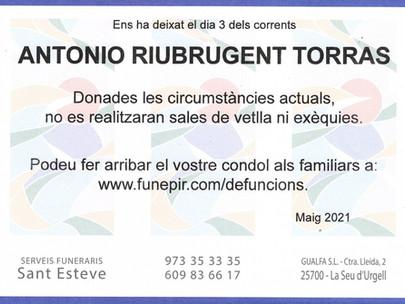 Antonio Riubrugent Torras