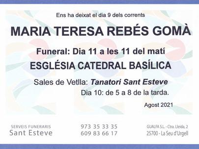 Maria Teresa Rebés Gomà