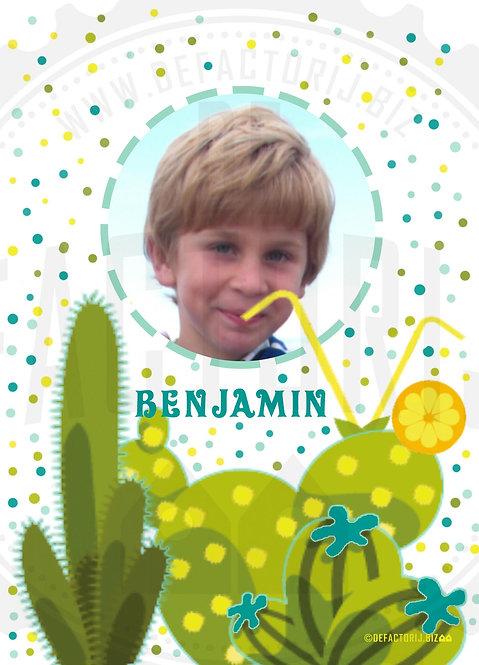 Vlaggenlijn & kaartjes Verjaardag Cactus