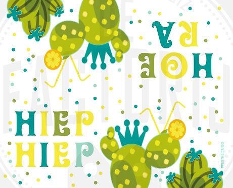 Labels voor snoepzakjes | Thema Cactus | 12 stuks