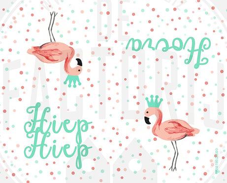 Labels voor snoepzakjes | Thema Flamingo | 12 stuks