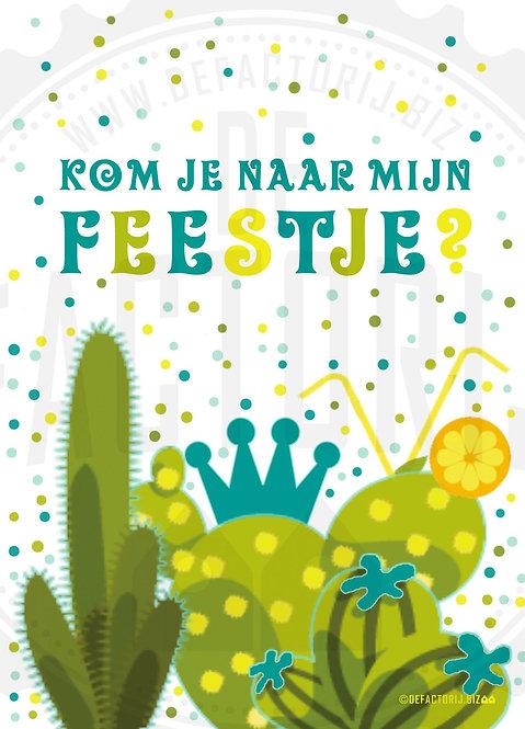 Uitnodigingen Verjaardag Cactus 12 stuks