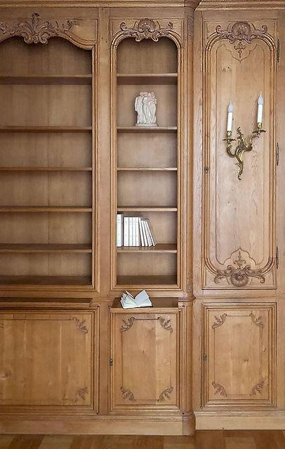 bibliothèque, haussmann, livres, boiseries, applique murale