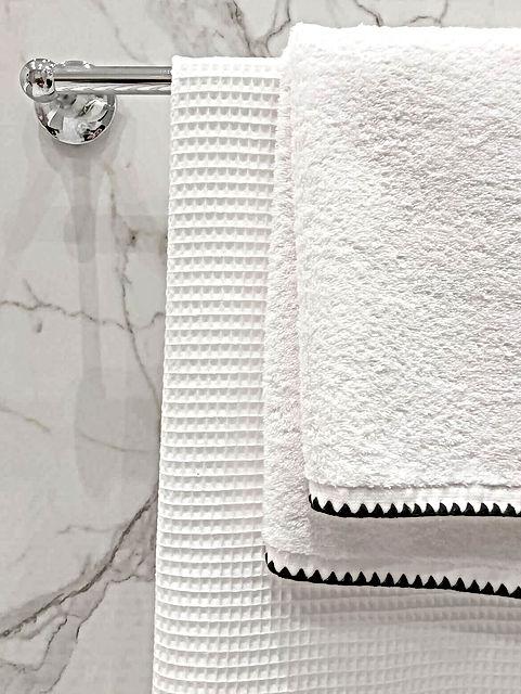 linge toilette, serviette, marbre, porte serviette