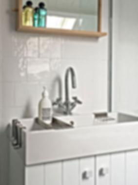 salle de bain, lavabo,faience blanche