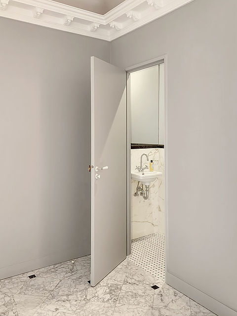 wc, toilette, marbre, lave mains, gris, farrow and ball