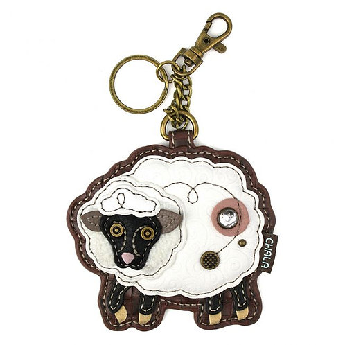 Sheep - Key Fob/Coin Purse