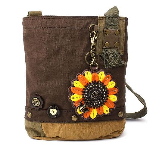 Sunflower - Patch Crossbody Bag Dk Brown