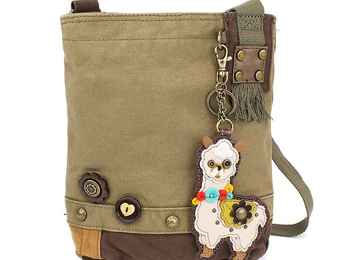 Llama - Patch Crossbody Bag Olive