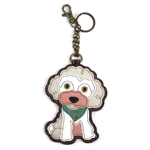 Poodle - Key Fob / Coin Purse