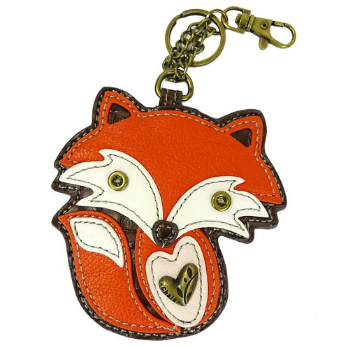 FOX - KEY FOB/COIN PURSE