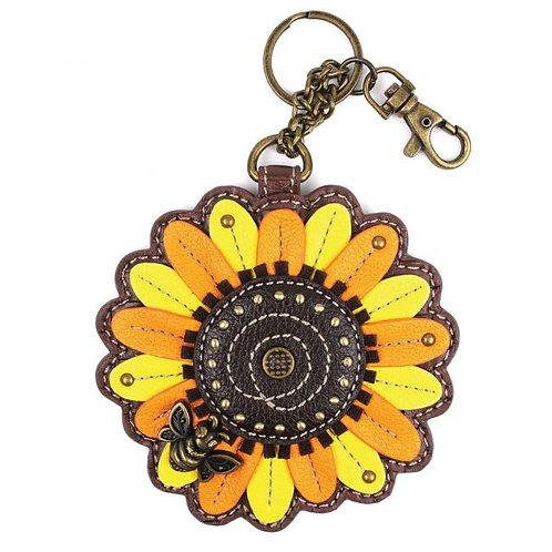Sunflower - Key Fob / Coin Purse