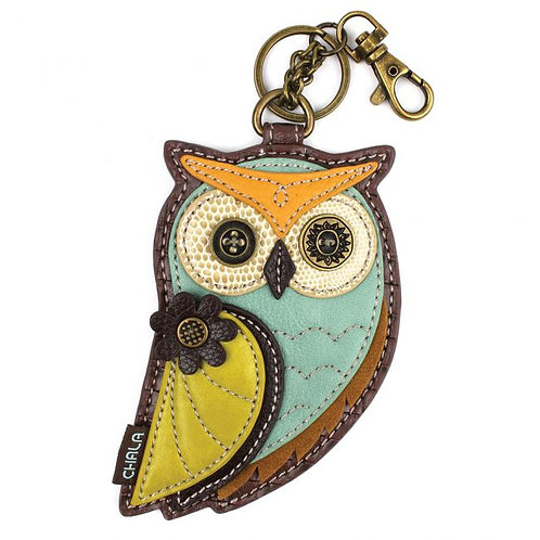Owl A- Key Fob / Coin Purse