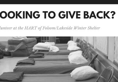 Volunteer Opportunity - HART of Folsom Winter Shelter