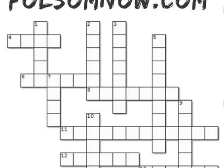 Folsom Crossword Puzzle & Key