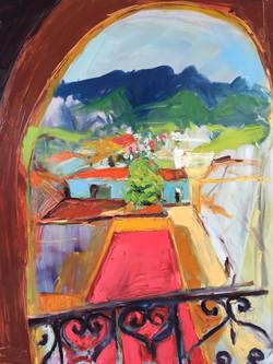 La Vida Cuba_La Ventana_38X48_oil on canvas_anaguzman