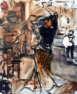 La Vida Cuba series- Bailando 2_36x44_oil on canvas_anaguzman