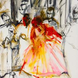 La Vida Cuba_Celia 1_OIl on canvas_39x44_anaguzman