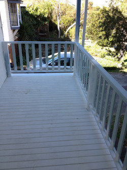 balcony decking and balustrate