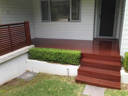 new stained decking