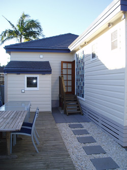 timber cladding and insulation