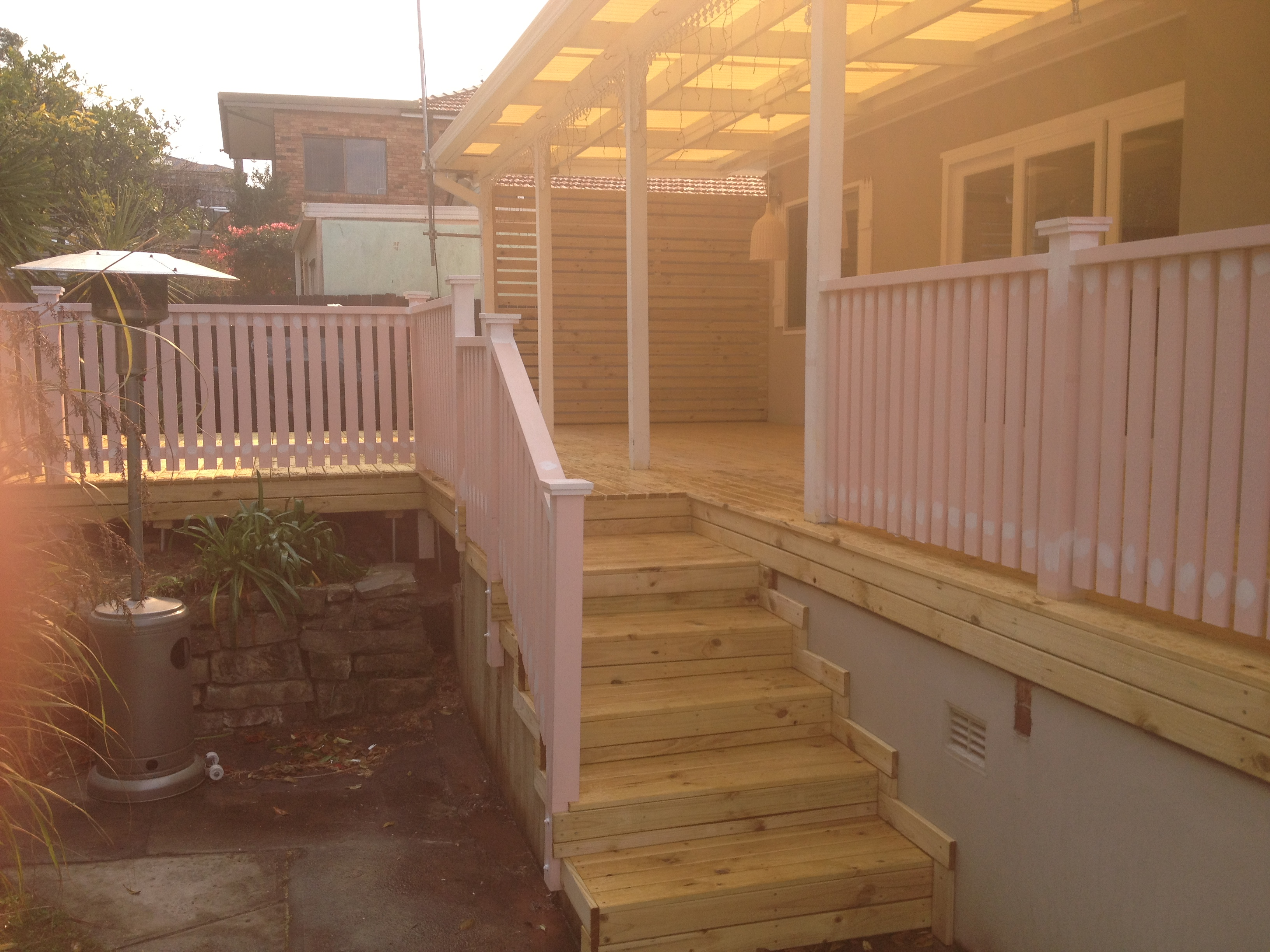 steps covered with decking