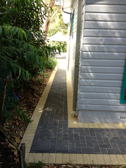 blocked paved pathway and drive way